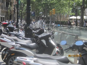 026 - Scooters parked on La Rambla - Copy (2)